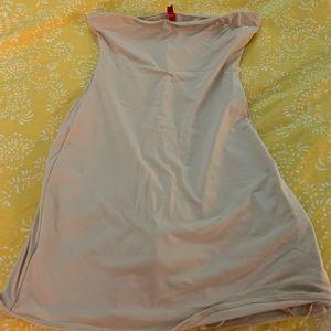 Spanx high waist skort/slip, tan , M